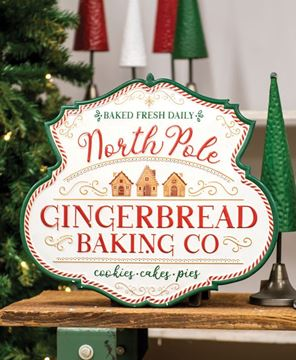 Picture of North Pole Gingerbread Baking Co. Metal Sign