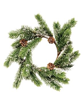 Picture of Icy Pine Wreath with Pinecones