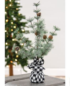 """Picture of Buffalo Check Sparkle Pine Tree, 18"""""""