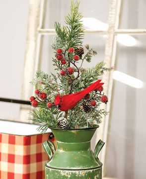 Picture of Mountain Berry Pine Spray with Cardinal