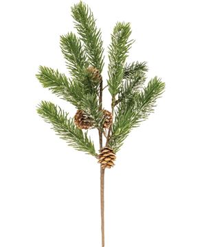 """Picture of Icy Pine Spray with Pinecones, 15"""""""