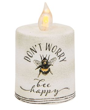 Picture of Don't Worry Bee Happy Timer Pillar