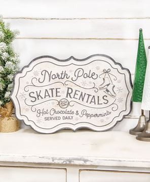 Picture of North Pole Skate Rentals Metal Sign