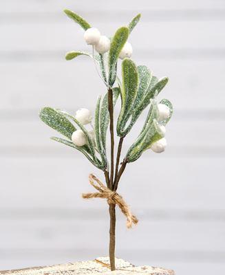 "Picture of Glittered Mistletoe Pick, 8.5"""