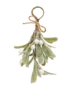 Picture of Glittered Mistletoe Ornament