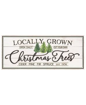 Picture of Weathered Locally Grown Christmas Trees Wooden Sign