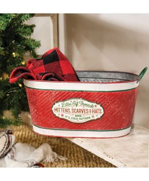 Picture of Little Elf Threads Oval Metal Bucket