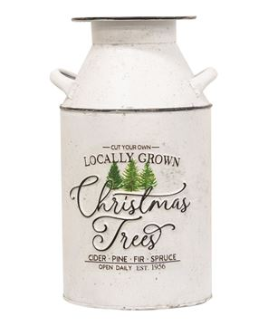 Picture of Locally Grown Christmas Trees Distressed Metal Milk Can