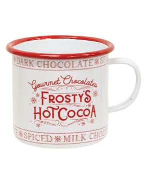Picture of Frosty's Hot Cocoa Enamel Mug