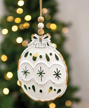 Picture of Shabby Chic Metal Bulb Ornament
