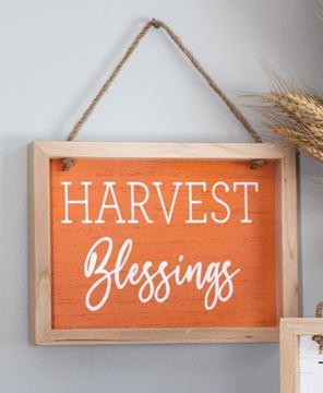 Picture of Harvest Blessings Frame w/Jute Hanger
