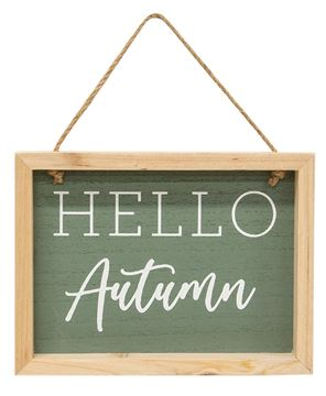 Picture of Hello Autumn Frame w/Jute Hanger