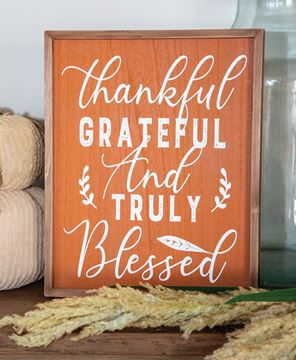 Picture of Thankful Grateful and Truly Blessed Frame