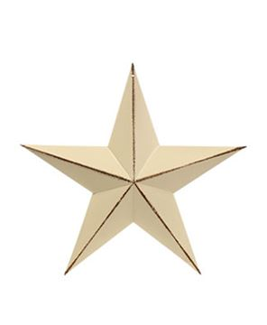 Picture of Distressed White Barn Star, 3.5""