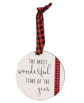 Picture of Tis the Season Wooden Tag Ornaments, 3/Set
