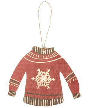 Picture of Christmas Sweater Wooden Ornaments, 3/Set