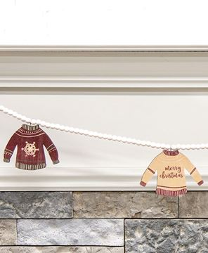 Picture of Wooden Christmas Sweaters Beaded Garland