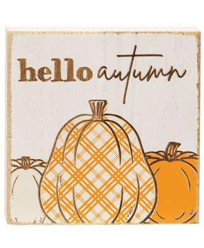 Picture of Hello Autumn Plaid Pumpkin Block, 2 Asstd.