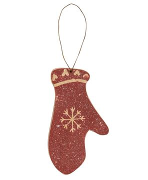 Picture of Glittered Red Mitten Ornament