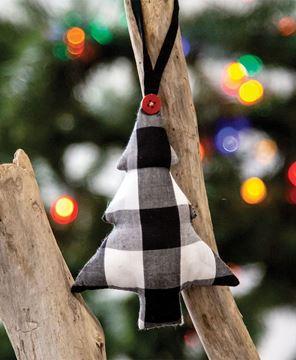 Picture of Black & White Buffalo Check Tree Ornament