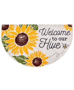 Picture of Welcome To Our Hive Welcome Half Mat