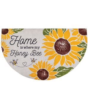 Picture of Home Is Where My Honey Bee Welcome Half Mat
