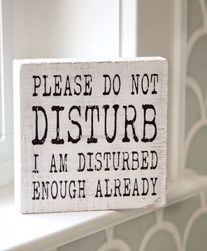 Picture of Please Do Not Disturb Wood Box Sign