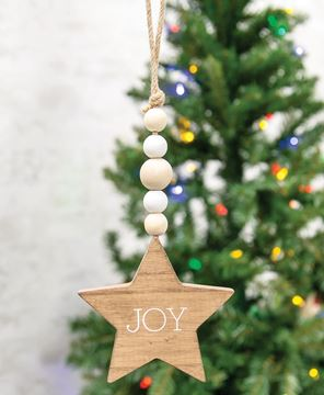 Picture of Joy Star Beaded Ornament