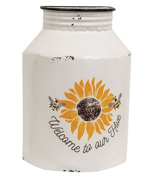 Picture of Welcome to Our Hive Distressed Half Milk Can