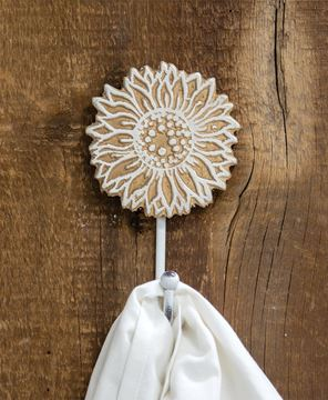 Picture of Distressed Wooden Sunflower Coat Hook