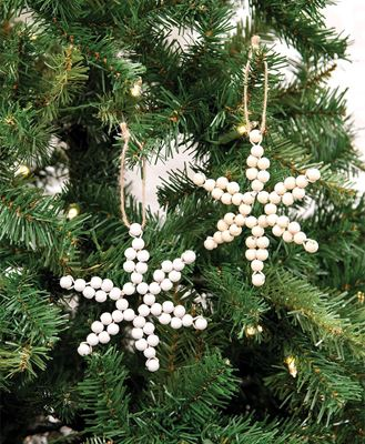 Picture of Wood Bead Snowflake Ornament, 2 Asstd.