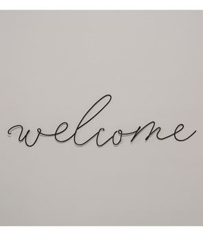 Picture of Welcome Wire Script Wall Word