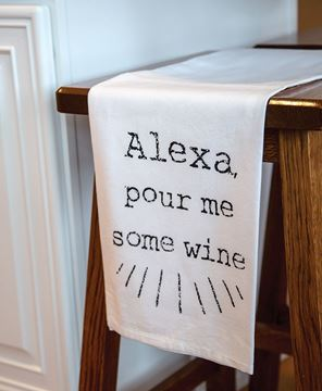 Picture of Alexa Pour Me Some Wine Dish Towel