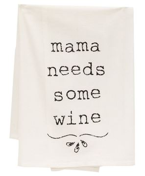 Picture of Mama Needs Some Wine Dish Towel