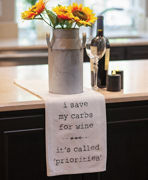 Picture of I Save My Carbs For Wine Dish Towel