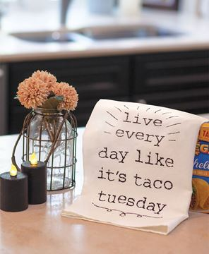 Picture of Live Everyday Like It's Taco Tuesday Dish Towel