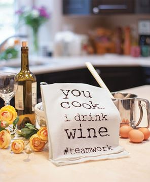 Picture of You Cook I Drink Wine Dish Towel