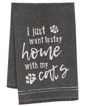 Picture of I Just Want To Stay Home With My Cats Dish Towel