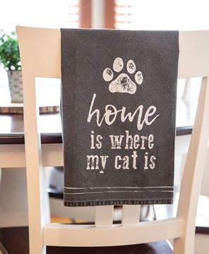 Picture of Home Is Where My Cat Is Dish Towel
