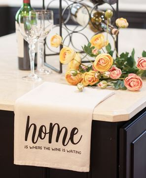 Picture of Home Is Where The Wine Is Waiting Dish Towel