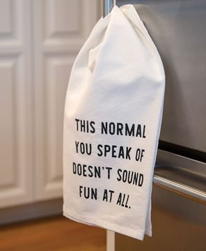 Picture of This Normal You Speak Of Doesn't Sound Fun Dish Towel