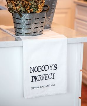 Picture of Nobody's Perfect Except My Grandkids Dish Towel
