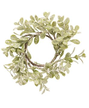 """Picture of Flocked Laurel Candle Ring, 2.5"""""""