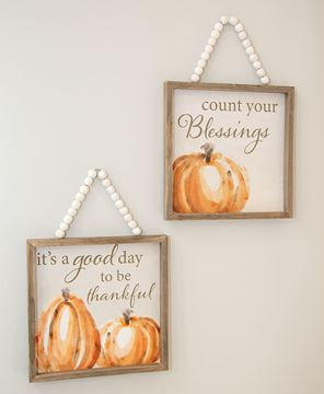 Picture of Count Your Blessings Beaded Sign, 2 Asstd.