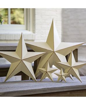 """Picture of Distressed White Barn Star, 3.5"""""""