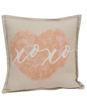 Picture of XOXO On Heart Pillow
