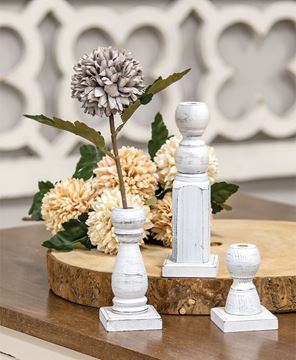 Picture of Short White Spindle Flower Holder