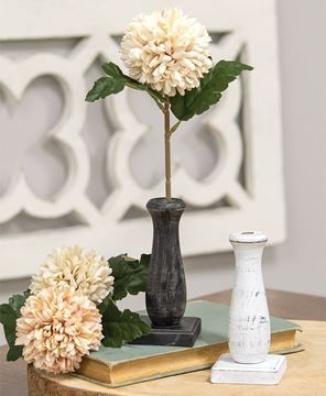 Picture of Curvy White Spindle Flower Holder