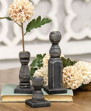 Picture of Tall Black Spindle Flower Holder