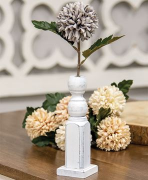 Picture of Tall White Spindle Flower Holder